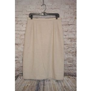 Pendleton Linen Blend Tan Skirt Women's Size 12